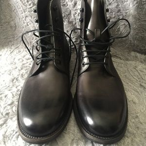 Magnanni for Neiman Marcus Leather Lace-Up Stacked